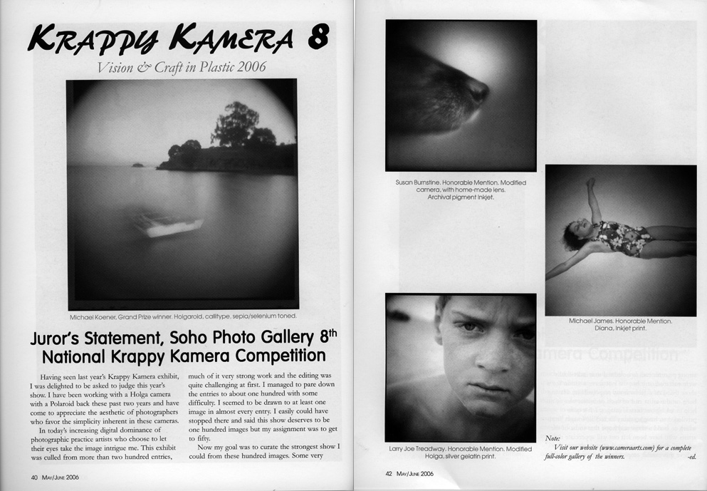 Krappy kamera 8 contest feature may june 2006